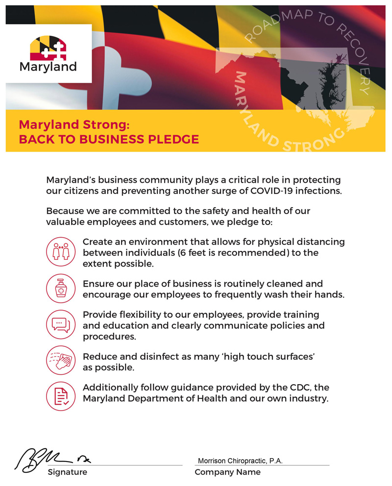 COVID-19 Roadmap To Recovery in Maryland